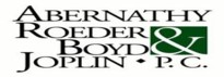 Abernathy, Roeder, Boyd & Joplin <br />A Professional Corporation Law Firm Logo