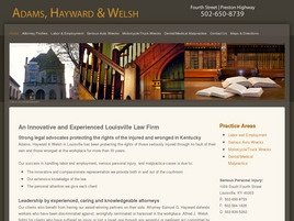 Adams, Hayward & Welsh Law Firm Logo