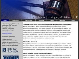 Adams, Hemingway & Wilson, LLP Law Firm Logo