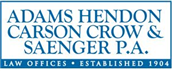 Adams, Hendon, Carson, <br />Crow & Saenger, P.A. Law Firm Logo