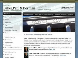 Baker, Paul & Dorman <br />A Partnership of Professional Associations Law Firm Logo