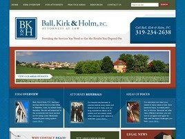 Ball, Kirk & Holm, P.C. Law Firm Logo