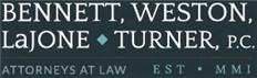 Bennett, Weston, <br />LaJone & Turner, P.C. Law Firm Logo