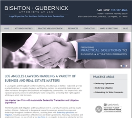Bishton · Gubernick Law Firm Logo