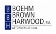 BOEHM BROWN HARWOOD, P.A. Law Firm Logo