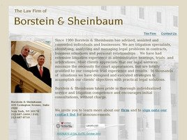 Borstein & Sheinbaum Law Firm Logo