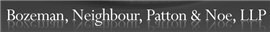 Firm Logo for Bozeman Neighbour Patton Noe LLP