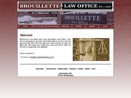 Brouillette Law Office, P.C., LLO Law Firm Logo