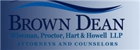 Brown, Dean, Wiseman, Proctor, Hart <br />& Howell, L.L.P. Law Firm Logo