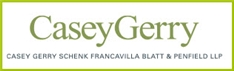 Casey Gerry Schenk Francavilla <br />Blatt & Penfield, LLP Law Firm Logo
