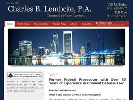 Firm Logo for Charles B. Lembcke P.A.