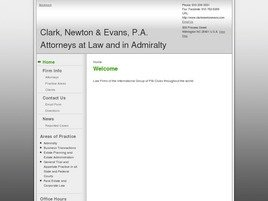 Clark, Newton &amp; Evans, P.A. Attorneys at Law and in Admiralty
