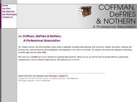 Firm Logo for Coffman, DeFries & Nothern <br />A Professional Association