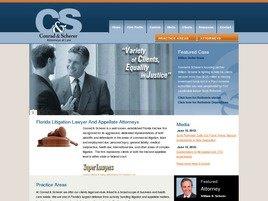 Conrad & Scherer Law Firm Logo