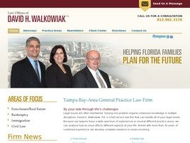 David H. Walkowiak, P.A. Law Firm Logo