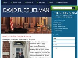 David R. Eshelman <br />A Professional Corporation Law Firm Logo