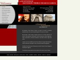 Law Offices of <br />Davidson Troilo Ream & Garza <br />A Professional Corporation Law Firm Logo