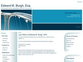 Firm Logo for Edward M. Burgh Esq.