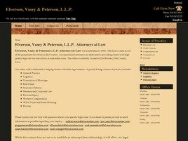 Firm Logo for Elverson Vasey Peterson L.L.P.