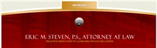 Firm Logo for Eric M. Steven P.S. Attorney at Law