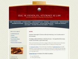 Firm Logo for Eric M. Steven, P.S. <br />Attorney at Law