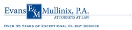 Firm Logo for Evans & Mullinix, P.A.