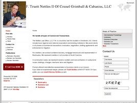 Firm Logo for F. Truett Nettles II Of Counsel Grimball Cabaniss LLC