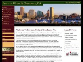 Freeman, Wolfe & Greenbaum, P.A. Law Firm Logo