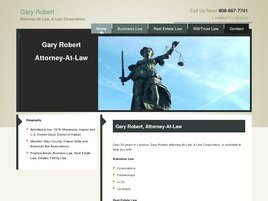 Gary Robert Attorney At Law <br />A Law Corporation Law Firm Logo