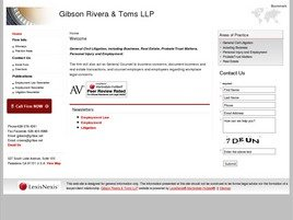 Gibson Rivera & Toms LLP Law Firm Logo