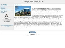 Golding Holden & Pope, L.L.P. Law Firm Logo