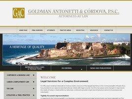 Firm Logo for Goldman Antonetti Cordova LLC