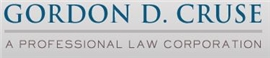 Gordon D. Cruse <br />A Professional Law Corporation Law Firm Logo