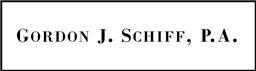 Gordon J. Schiff, P.A. Law Firm Logo