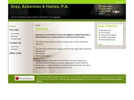 Gray, Ackerman & Haines, P.A. Law Firm Logo