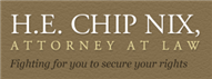 H. E. Chip Nix, Attorney at Law Law Firm Logo