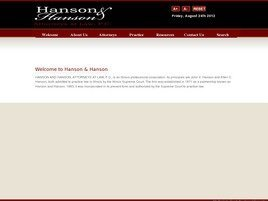 Hanson and Hanson <br />Attorneys at Law, P.C. Law Firm Logo