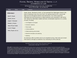 Firm Logo for Hayek, Brown, <br />Moreland & Smith, L.L.P.