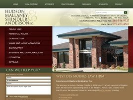 Hudson, Mallaney, Shindler & Anderson, P.C. Law Firm Logo