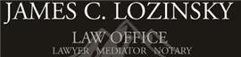 James C. Lozinsky <br />Professional Corporation Law Firm Logo