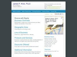 Firm Logo for James P. Knox, PLLC <br />Attorney and Counselor at Law