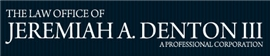 Jeremiah A. Denton III, P.C. Law Firm Logo