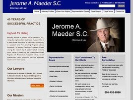 Firm Logo for Jerome A. Maeder S.C. Attorneys at Law