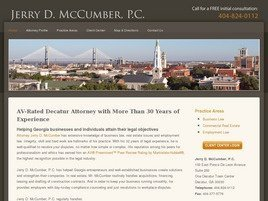 Jerry D. McCumber, P.C. Law Firm Logo