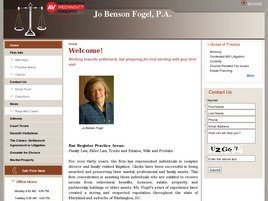 Jo Benson Fogel, P.A. Law Firm Logo