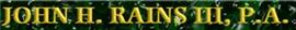 Firm Logo for John H. Rains III P.A.