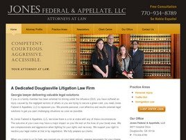 Jones Federal & Appellate, LLC Law Firm Logo