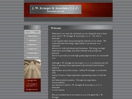 J.W. Krueger, & Associates, L.L.C. Law Firm Logo