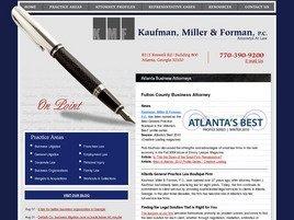 Kaufman & Forman, P.C. Law Firm Logo