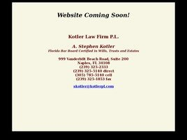 Firm Logo for Kotler Law Firm P.L.